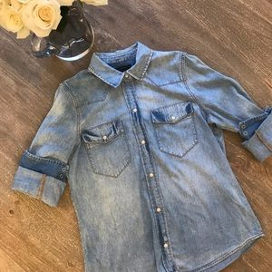 J crew Western chambray button down